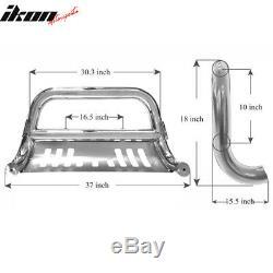 Fits 94-01 Dodge Ram 1500 Chrome Bull Bar WithSkid Plate Brush Push Grille Bumper