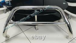 Fits To Mitsubishi L200 Chrome Nudge Push A-bar S Steel Bull Bar 2006-2014 Nx1