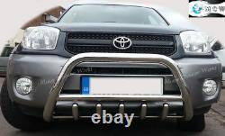 Fits Toyota Rav4 Bull Bar Chrome Axle Nudge Push Stainless Steel 2006-2009 Logo