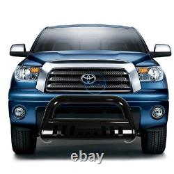 For 00-07 Tundra Sequioa 3 Black Bull Bar Push Front Bumper Grille Guard withSkid