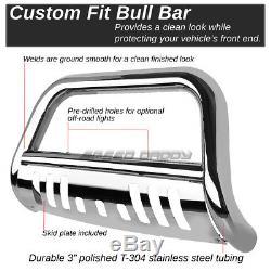 For 04-12 Chevy Colorado/gmc Canyon Chrome 3 Bull Bar Push Bumper Grille Guard