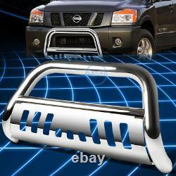 For 04-15 Titan Armada 3 Chrome S/S Bull Bar Push Front Bumper Grille Guard