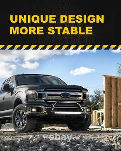 For 04-20 Ford F-150 3 Bull Bar Push Brush Bumper Grille Guard With Led Light