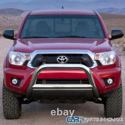 For 05-15 Toyota Tacoma Bull Bar Grille Grill Push Guard Chrome Stainless Steel