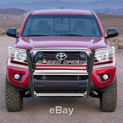 For 05-15 Toyota Tacoma Metallic 1.5 Push Bull Bar Bumper Grill Brush Guard