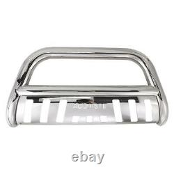 For 05-15 Toyota Tacoma Stainless Bull Bar Brush Push Front Bumper Grille Guard