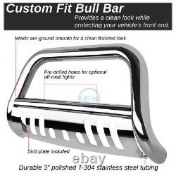 For 05-16 Pathfinder Frontier 3 Chrome S/S Bull Bar Push Bumper Grille Guard