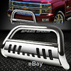 For 07-10 Chevy Silverado/sierra 2500/3500 Hd Chrome Bull Bar Push Bumper Guard