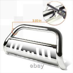For 07-13 Silverado/Sierra 1500 3 Tube Bull Bar Push Bumper Grille Guard Chrome