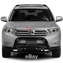 For 08-13 Highlander Xu40 Suv Coated Ss Bumper Bull Bar Push Grille Skid Plate
