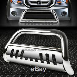 For 09-15 Honda Pilot Chrome Stainless Steel 3bull Bar Push Bumper Grille Guard