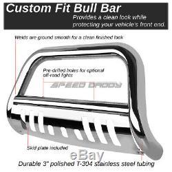 For 09-18 Dodge Ram 1500 Truck Chrome Brush Bull Bar Push Bumper Grille Guard