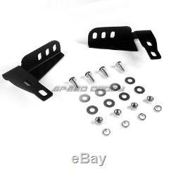 For 10-16 Toyota 4runner N280 Suv Black 3bull Bar Push Bumper Grille Guard+skid