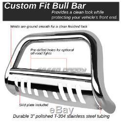 For 10-16 Toyota 4runner N280 Suv Chrome 3 Bull Bar Push Bumper Grille Guard
