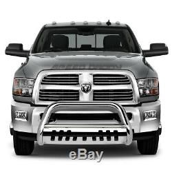 For 10-18 Dodge Ram 2500/3500 Truck Chrome 3 Bull Bar Push Bumper Grille Guard