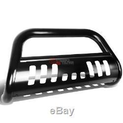 For 10-18 Ram 2500/3500 Coated Ss Bumper Bull Bar Push Grille Skid Plate Black