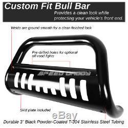 For 11-16 Dodge Durango/grand Cherokee Black 3bull Bar Push Bumper Grille Guard