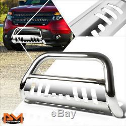 For 11-16 Ford Explorer 3 Tubing Bull Bar Front Push Bumper Grille Guard Chrome