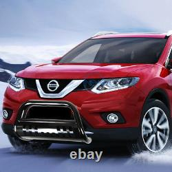 For 13-16 Nissan Pathfinder 3 Black Bull Bar Push Bumper Grille Guard withSkid