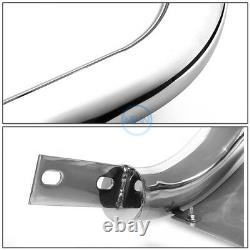 For 13-16 Pathfinder 3 Chrome SS Bull Bar Push Front Bumper Grille Guard withSkid