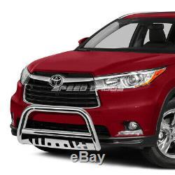 For 14-16 Toyota Highlander Xu50 Suv Chrome 3 Bull Bar Push Bumper Grille Guard