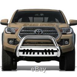 For 16-17 Toyota Tacoma Pickup Truck Chrome 3bull Bar Push Bumper Grill Guard
