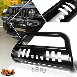 For 18-19 Jeep Wrangler 3 Tubing Bull Bar Front Push Bumper Grille Guard Black