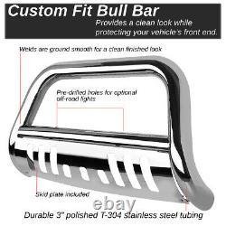For 18-19 Jeep Wrangler Stainless Steel 3bull Bar Bumper Grill Push Brush Guard