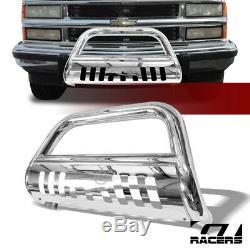 For 1988-1993 Chevy/GMC C10 C/K Chrome Bull Bar Brush Push Bumper Grille Guard