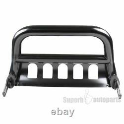 For 2004-2019 Ford F150 Expedition 3 Black S/S Bull Bar Push Guard+Skid Plate