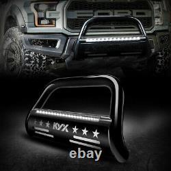 For 2004-2020 Ford F150 F-150 2019 Bull Bar Push Brush Bumper Guard Black 3