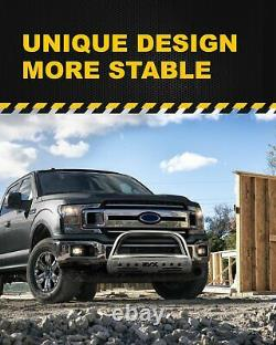 For 2004-2020 Ford F150 Stainless Bull Bar Brush Push Bumper Grille Grill Guard