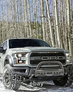 For 2004-2020 Ford F-150 Bull Bar Push Brush Bumper Grille Guard Silver 3 Steel