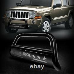 For 2004-2020 Ford F-150 Pickup Bull Bar Push Brush Bumper Grille Guard Black 3