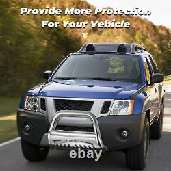 For 2005-2019 Nissan Frontier 3 Stainless Steel Bull Bar Push Bumper Grille