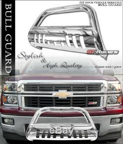 For 2007-2014 Escalade/Avalanche Chrome Bull Bar Brush Push Bumper Grille Guard