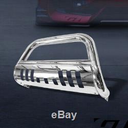 For 2008-2014 Ford E150/E250/E350 Chrome Bull Bar Push Bumper Grill Grille Guard