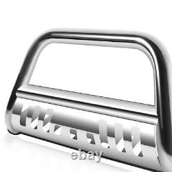 For 2008-2021 Toyota Tundra/Sequoia Steel 3 Bull Bar Push Bumper Grille Guard