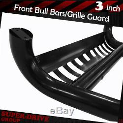 For 2009-2015 HONDA PILOT Brush Push Front Bumper Grille Guards Black Bull Bar