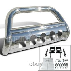 For 2009-2018 Ram 1500 3 Stainless Steel Bull Bar Push Guard withSkid Plate