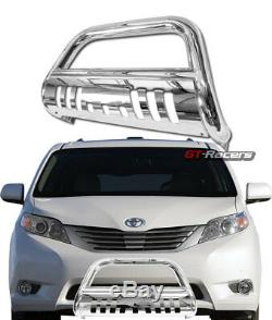 For 2011-2019 Toyota Sienna Chrome Bull Bar Brush Push Bumper Grill Grille Guard
