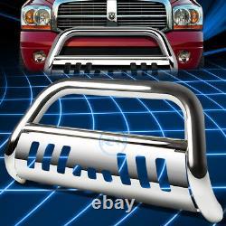 For 97-04 Dakota Durango 3 Chrome S/S Bull Bar Push Bumper Grille Guard withSkid