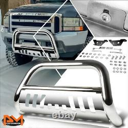 For 97-04 Ford F-150/F-250/Expedition 3 Bull Bar Front Push Bumper Guard Chrome