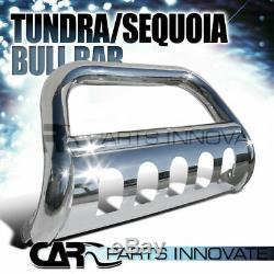 For Toyota 07-20 Tundra 08-20 Sequoia 3 Pickup S/S Bull Bar Grille Push Guard