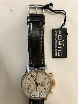 Fortis 40 mm Flieger Limited Edition, 18K Push / Pull Crowns, Swiss Valjoux 7750