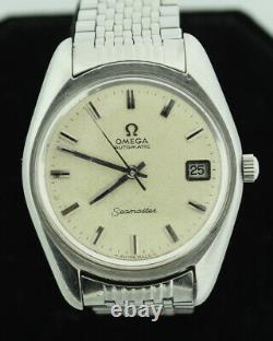 Free Shipping 1971 OMEGA SEAMASTER Push-Pull Date SS Automatic 36mm