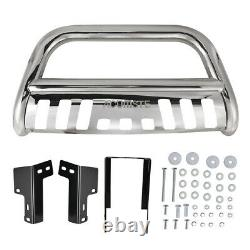 Front Bull Bar Push Bumper Grille Guard withSkid Plate For 2016-2018 Toyota Tacoma