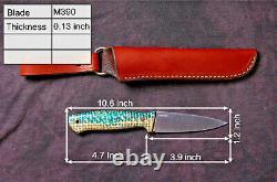 G. Dedyukhin Fixed Blade Hunting knife Severeg M390 Handmade in Bark River Styl