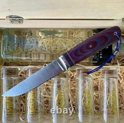G. Dedyukhin Hunting Knife Semi-Worker Universal CPM 3V CUSTOM Bark River Style