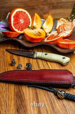 G. Dedyukhin fixed Hunting knife Scandinave M390 Handmade in Bark River Style